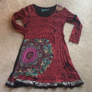 Desigual Red Dress- Sz XL